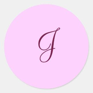 letter J envelope sticker