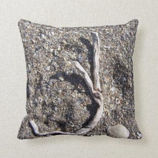 letter j indriftwood on florida beach pillows