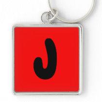 letter J, initial , abecedario popular key chain