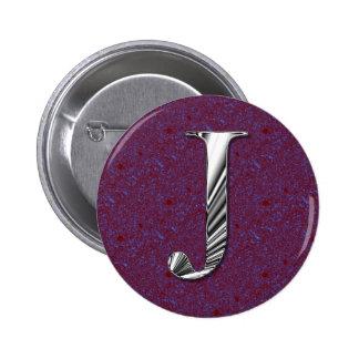 Letter J Monogram 2 Inch Round Button