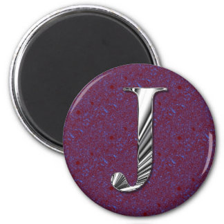 Letter J Monogram 2 Inch Round Magnet