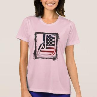 Letter J Monogram Initial Patriotic USA Flag T-Shirt
