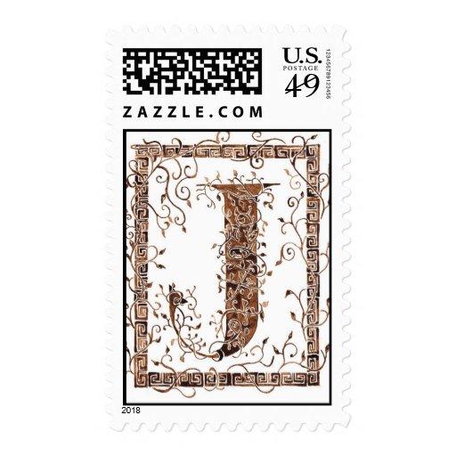 letter J monogram Postage