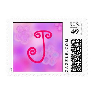 Letter J Monogram Stamp