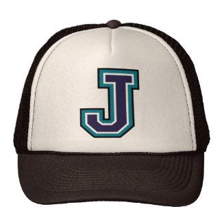 """Letter """"J"""" Monogram Trucker Hat"""