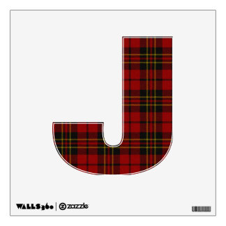 letter J punk rock tartan plaid emo alphabet Wall Sticker
