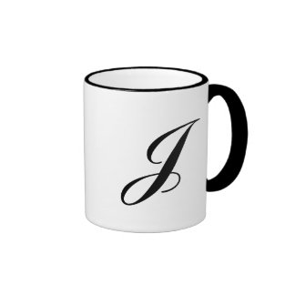 """""""Letter J"""" Ringer Mug"""