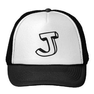 Letter J Trucker Hat