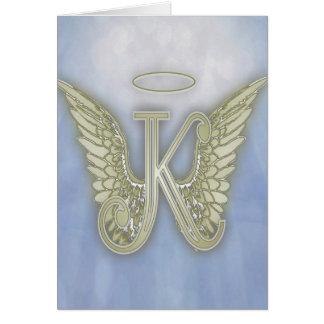 Letter K Angel Monogram Greeting Card