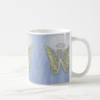 Letter K Angel Monogram Coffee Mug