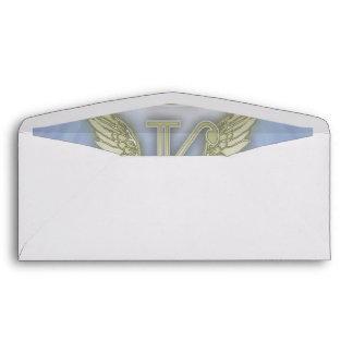 Letter K Angel Monogram Envelope