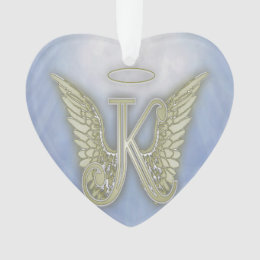 Letter K Angel Monogram Ornament
