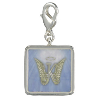 Letter K Angel Monogram Photo Charms