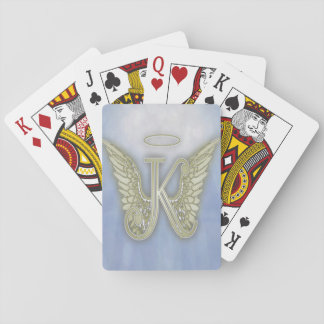 Letter K Angel Monogram Playing Cards
