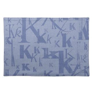 Letter K Cloth Placemat