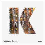 Letter K  Decal - Chandelier Glass Room Graphic