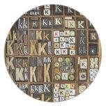 Letter K Dinner Plate