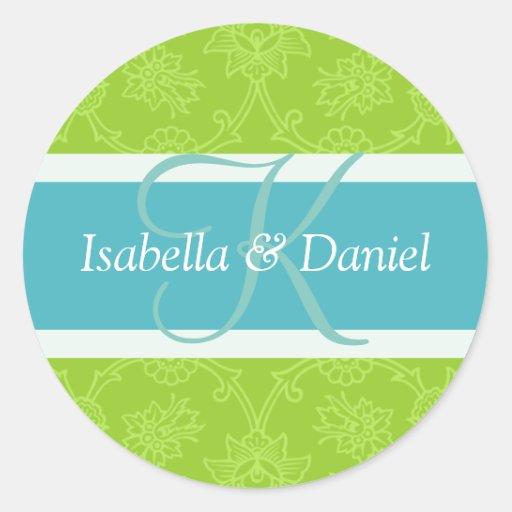 Letter K For Wedding Invitation Seals Sticker