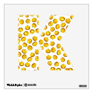 Letter K Initial  - Carved Pumpkins Wall Decal