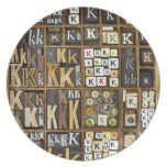 Letter K Melamine Plate