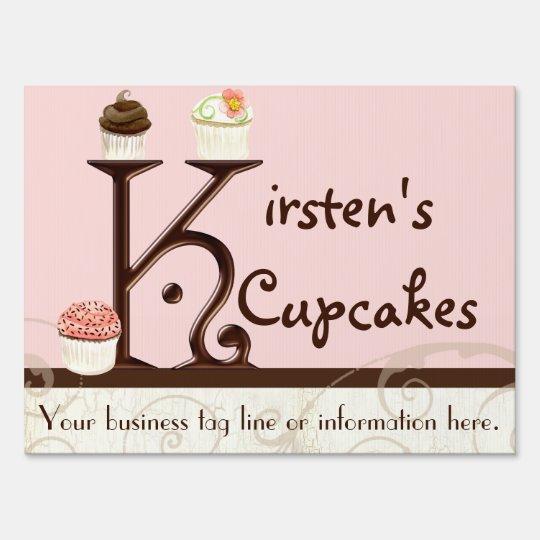 Letter K Monogram Dessert Bakery Business Signage
