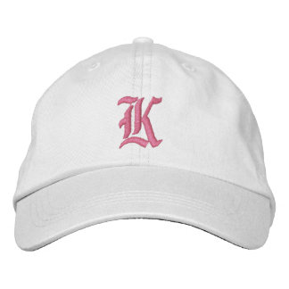 Letter K Monogram Embroidered Hat