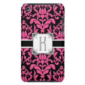 Letter K Monogram Floral Damask Typography Scroll Barely There iPod Cases