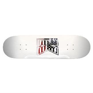 Letter K Monogram Initial Patriotic USA Flag Skateboard