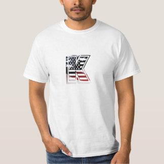 Letter K Monogram Initial Patriotic USA Flag T-Shirt