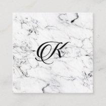 Letter K monogram Marble texture Enclosure Card