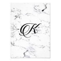 Letter K monogram Marble texture Invitation