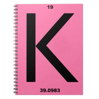 Letter K pink Journal
