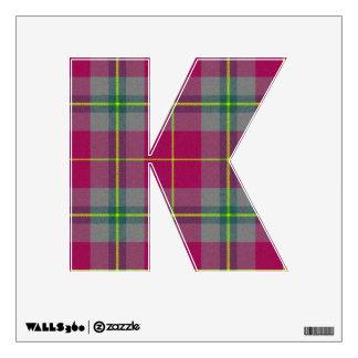 letter K punk rock college emo wall sticker kawaii