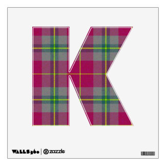 letter K punk rock college emo wall sticker kawaii