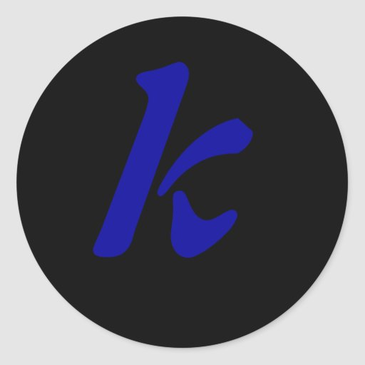 letter k sticker zazzle With letter k stickers