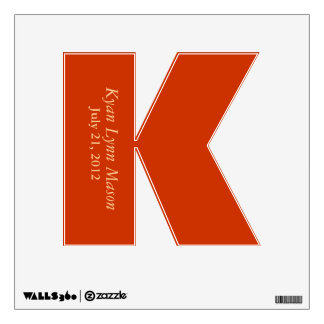 """Letter """"K"""" Wall Decal"""