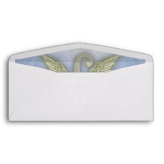 Letter L Angel Monogram Envelope