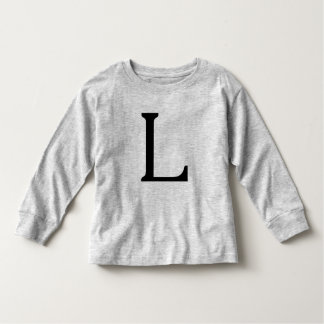 Letter L Black Monogram shirt