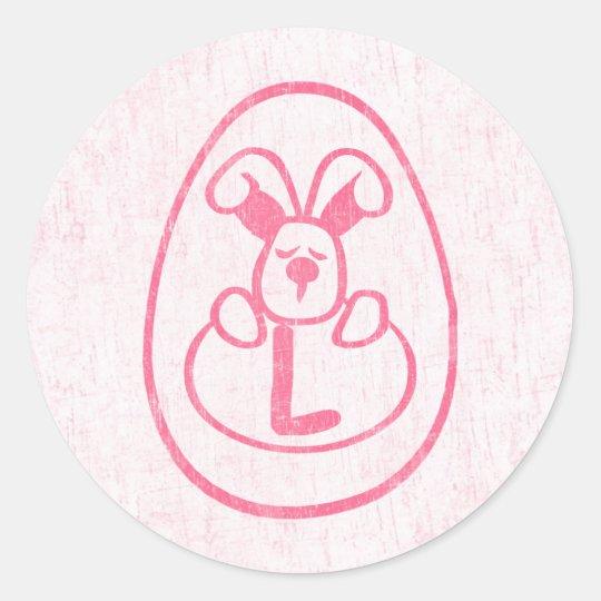 Letter L Classic Round Sticker