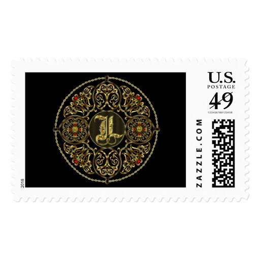 Letter L Classic Style Best Viewed Large View Note Postage Stamp