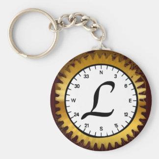 Letter L Clockwork Keychain
