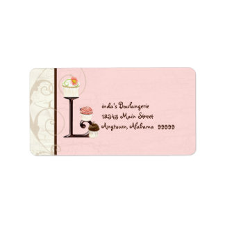 Letter L  Cupcake Business Address Mailing Labels
