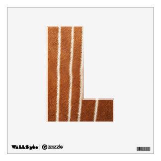 """Letter """" L """" Decal - Animal Fur - Bongo Antelope"""