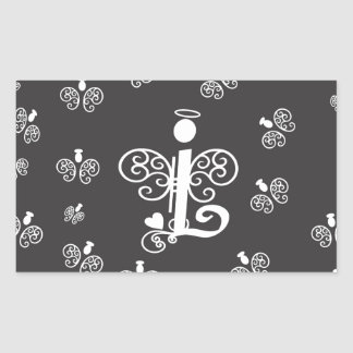 Letter L Monogram Initial with Angels Sticker