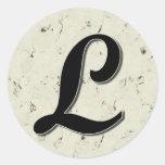 Letter L Monogram Sticker