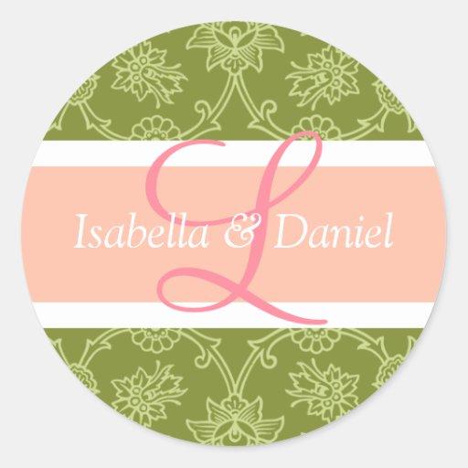 Letter L Monograms For Wedding Invitation Seals Stickers