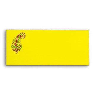 Letter L Ornamental Envelope