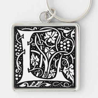 Letter 'L' William Morris Design - Keychain