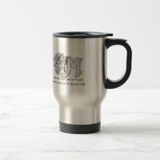 Letter M angel monogram alphabet initial Travel Mug