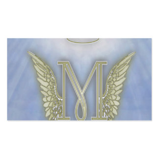 Letter M Angel Monogram Double-Sided Standard Business Cards (Pack Of 100)